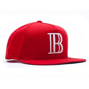 "Image of 40 Oz Van x BAU ""B"" Snap Back (Red)"