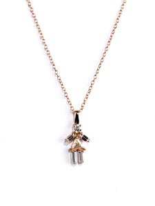 Image of Matchstick Rose Gold Girl Necklace