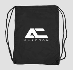 Image of AUTOCON DRAWSTRING BAG | BLACK