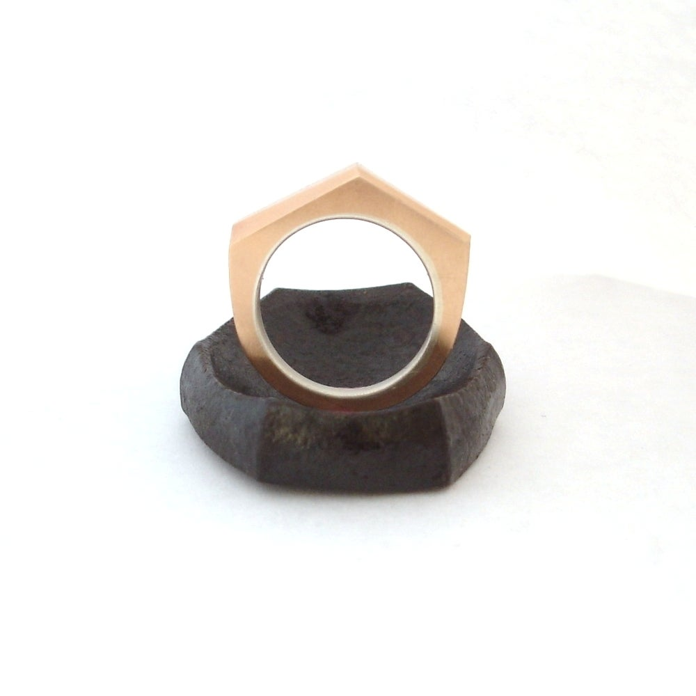 Image of Geometric Bronze ring