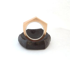Image of Geometric Bronze ring