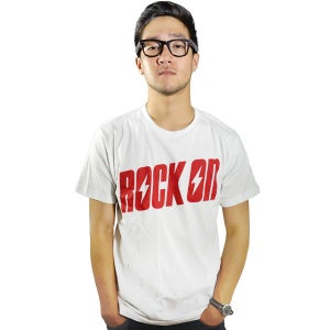 Image of Rock On White Tee (UNISEX) LIMITED EDITION!