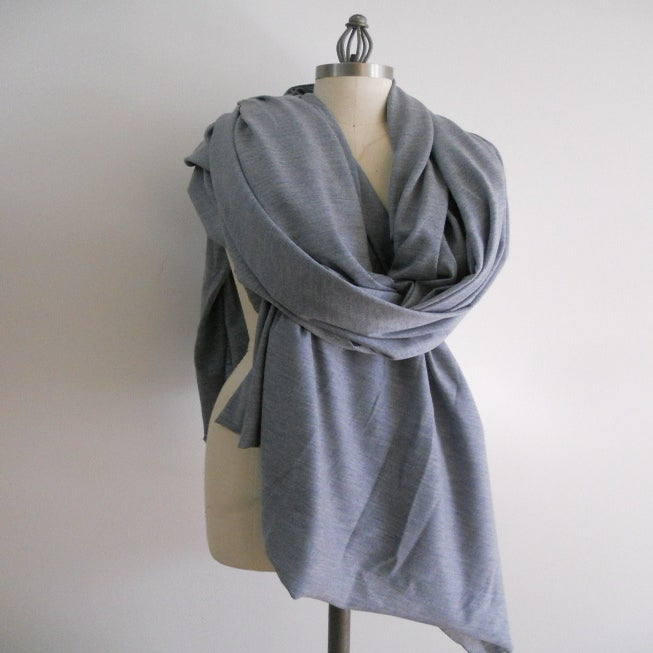 Image of MARIA SEVERYNA Pale Blue Blanket Scarf