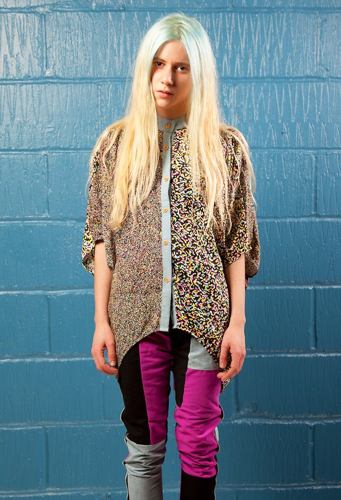 Image of Static Print Blouse