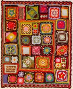 Image of Vintage Crochet Pattern PDF 195 Afghan Granny Blanket from WonkyZebra