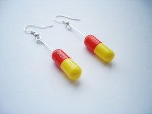 Image of MagicPill Earrings Orange/Yellow