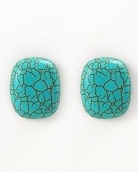 Image of Turquoise Acrylic Stone Earrings