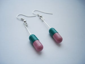 Image of MagicPill Earrings Pink/Green