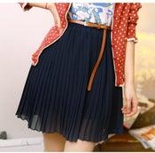 Image of Chiffon Skirt with Belt