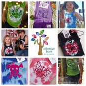 Image of BABY & KIDS TIE DYE HAND PRINTED SINGLETS & T-SHIRTS LISTED ON ETSY www.etsy.com/shop/bohemianbabes