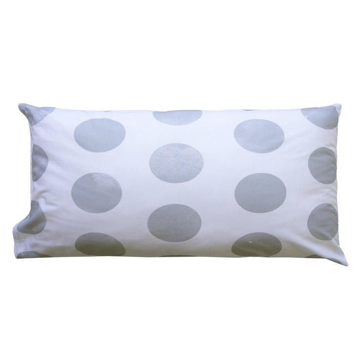 Image of GREY POLKA DOT PILLOWCASE