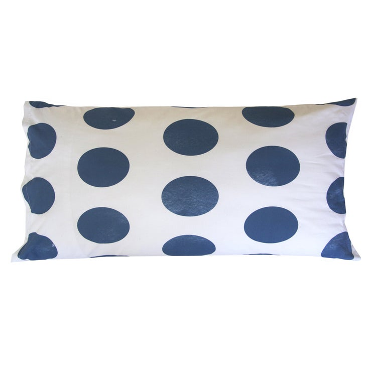 Image of NAVY POLKA DOT PILLOWCASE