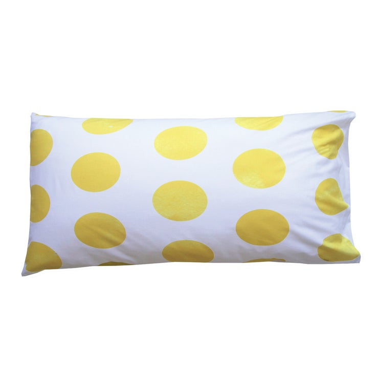 Image of YELLOW POLKA DOT PILLOWCASE