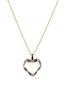 Image of Matchstick Yellow Gold Large Heart Necklace