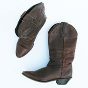 Image of Brass Toe Leather Boots