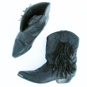 Image of Black Fringed Boot