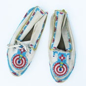 Image of Native American Beaded Moccasins