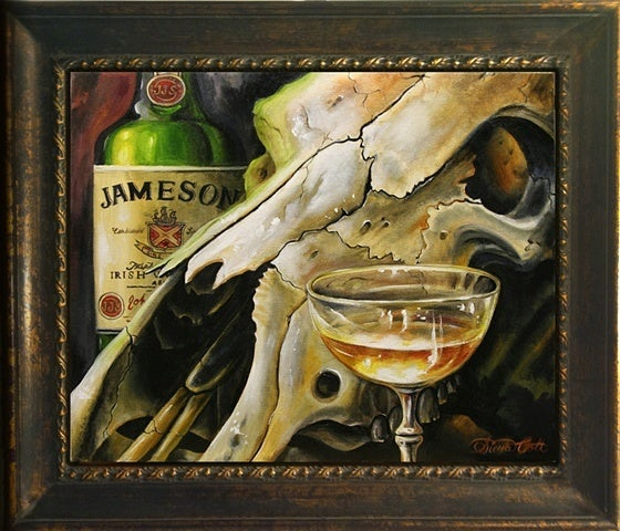 "Image of ""J-Mo"" framed print on canvas"