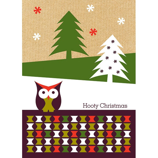 Image of Hooty Christmas Gift Tags