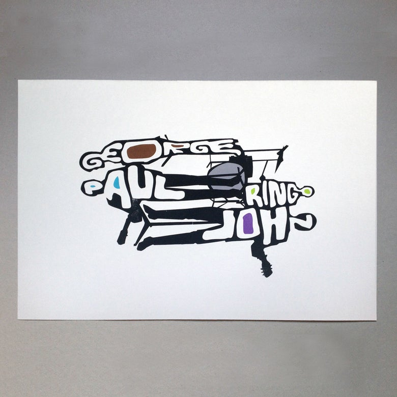Image of Moptops Screen Print Limited Edition