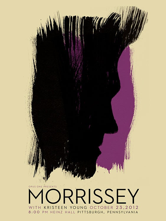 Image of Morrissey Pittsburgh Poster PETA Donation