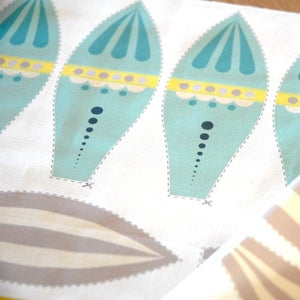 Image of Fabric Panel - Air Balloons in Sunshine