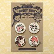 Image of Magic Girl & Friends Button Badge Set