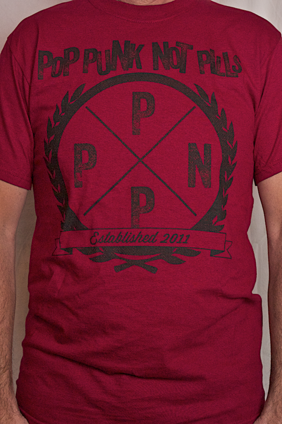 Image of PPNP EMBLEM T-SHIRT (Black on Red)