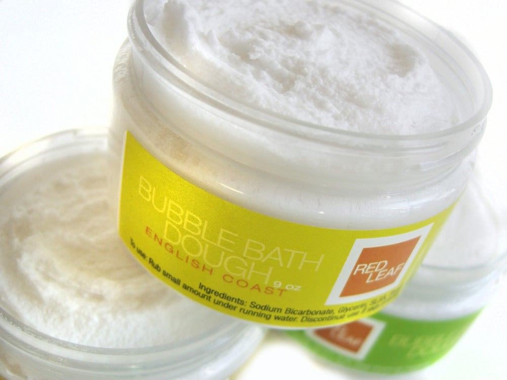 Image of Red Leaf Bubble Bath Dough An All Natural Vegan Bubble Bath
