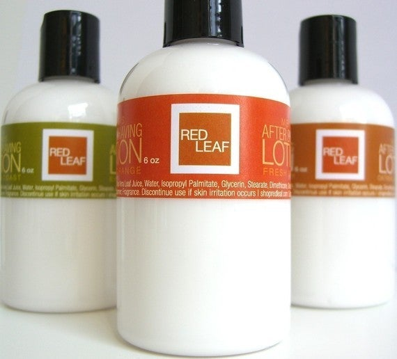 Image of Free Shipping Red Leaf Mens After Shaving Lotion Balm With Aloe Vera
