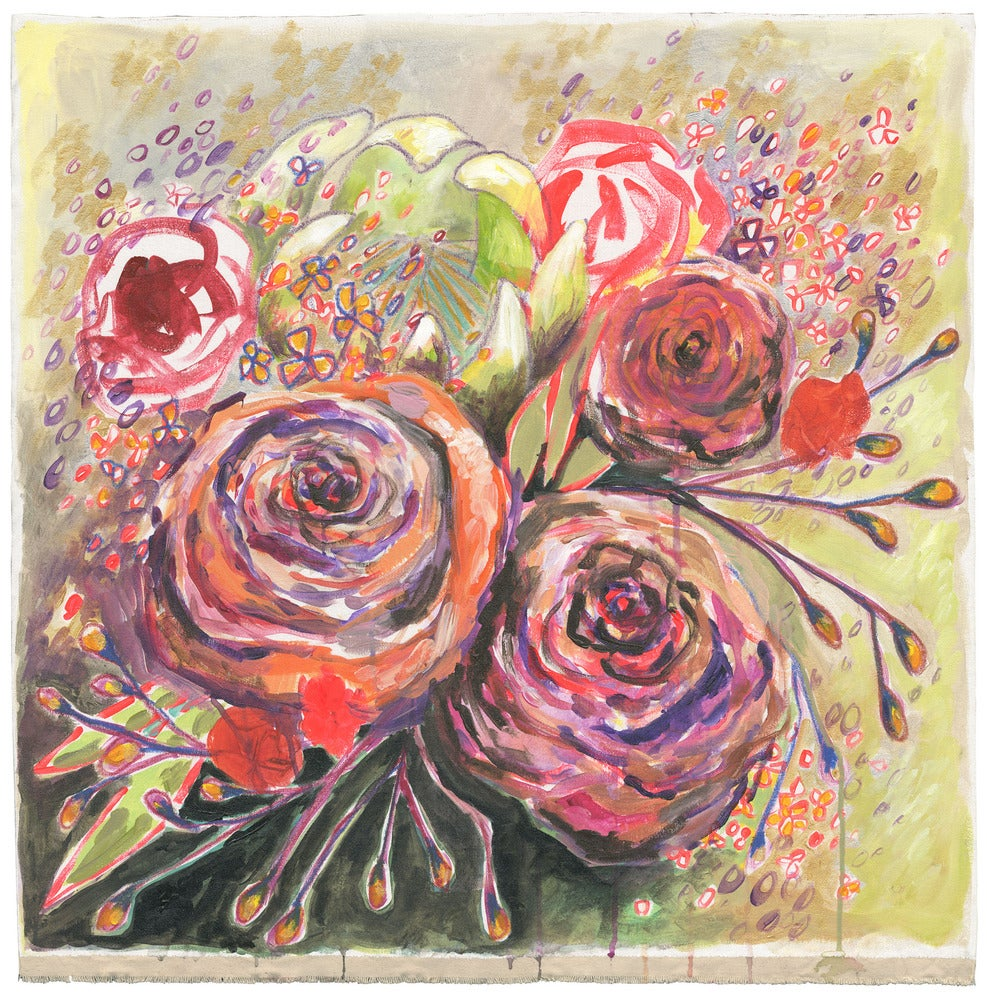 """Image of NEW PRICE! flowers for alison 30""""x31"""""""