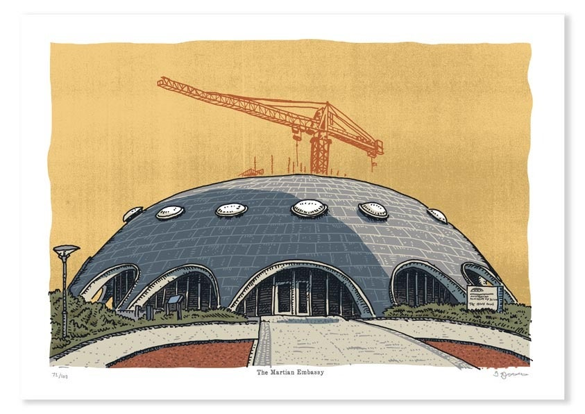 Image of Martian Embassy Limited Edition Digital Print