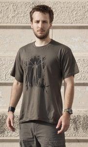 Image of A.V.O.K. SlenderMan Man T-Shirt Deep Red/Grey