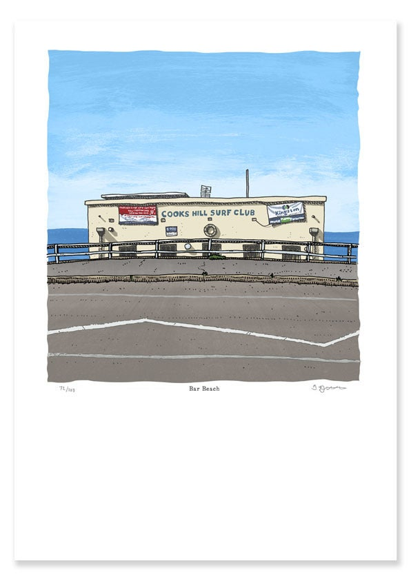 Image of Cooks Hill Surf Club Limited Edition Digital Print