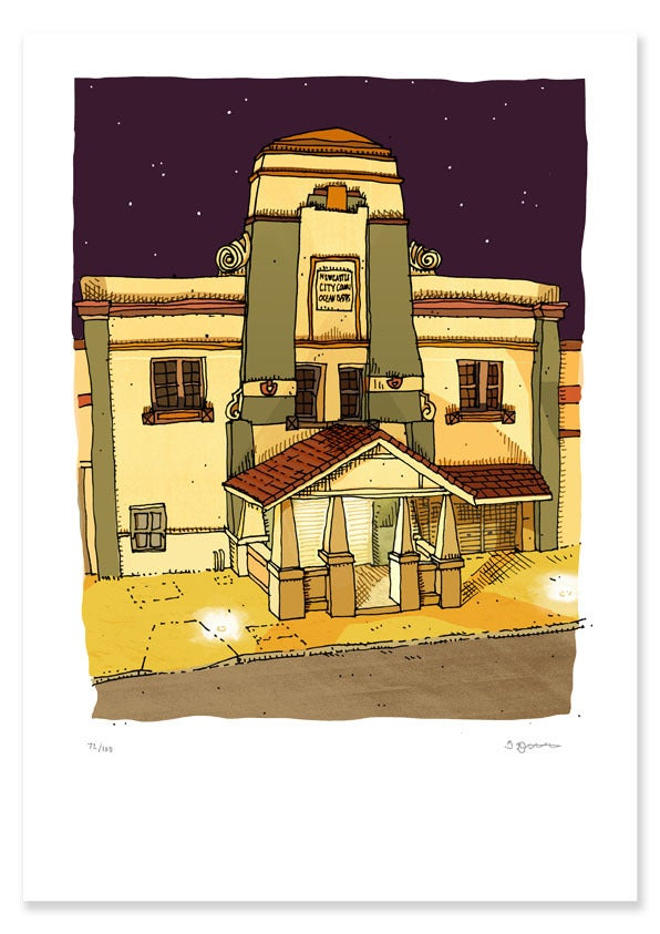 Image of Ocean Baths Night Limited Edition Digital Print