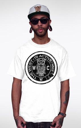Image of Bohemia Club tee (wht/blk)