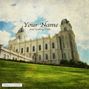 Image of Manti Utah LDS Mormon Temple Art 001 - Personalized LDS Temple Art
