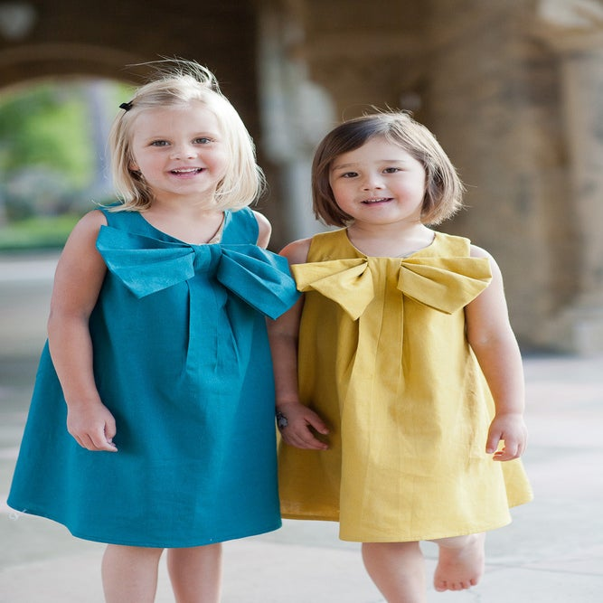 Image of Big Bow Dress PDF Pattern