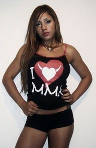Image of I LOVE MMA Ladies Camisole w/Red Logo