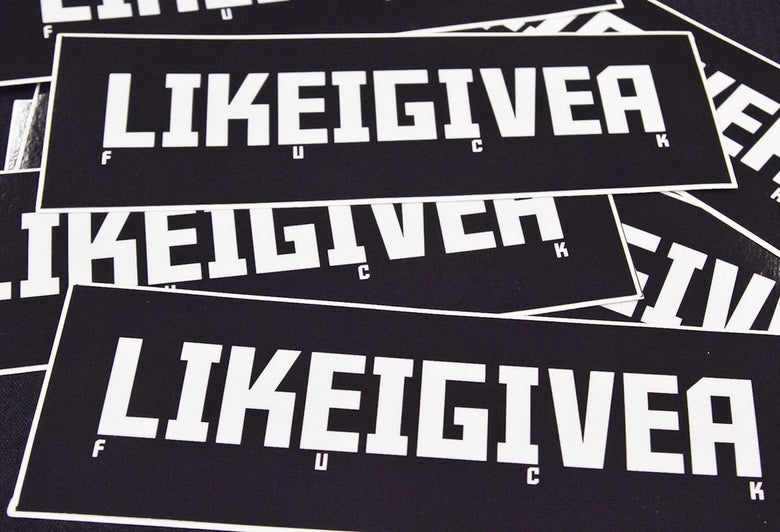Image of LIGAF - LIKE I GIVE A F#$K BUMPER STICKER