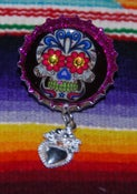Image of Day of the Dead skull  Brooch 2