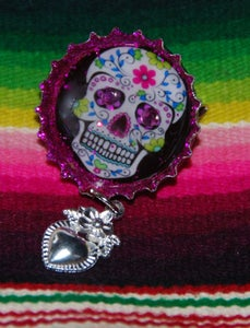 Image of Day of the Dead Skull Brooch 3