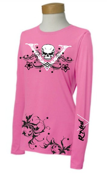 "Image of Ladies PINK ""V-Unit"" Long Sleeve Shirt"