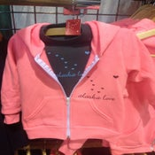 Image of Kid's Neon Heather  Pink Hoodie