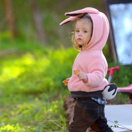 Image of Bunny Hoodie  קפוצ'ון ארנב וורוד