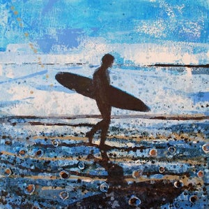 Image of Surfer Returning, Fistral Beach