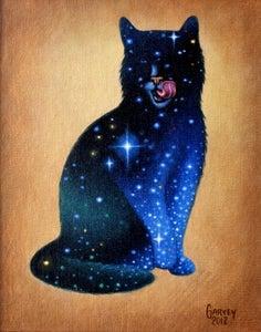 "Image of Celestial Cat - 11"" x 17"" Archival Print"