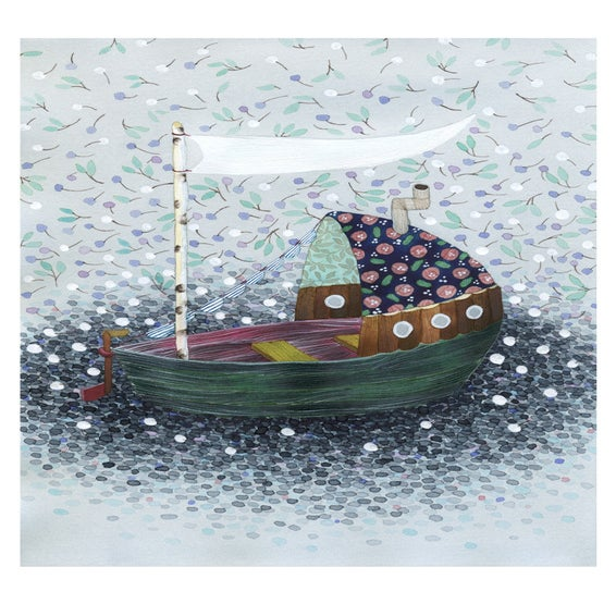Image of Blossom Sailing -print