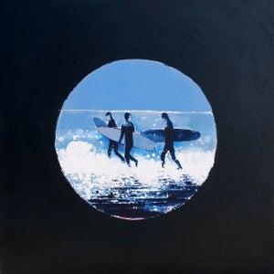 Image of Three Surfers Cornwall