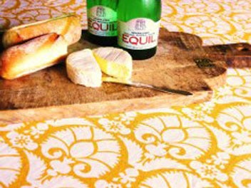 Image of KATHERINE RALLY TABLECLOTH IN PONDICHERRY TANGERINE